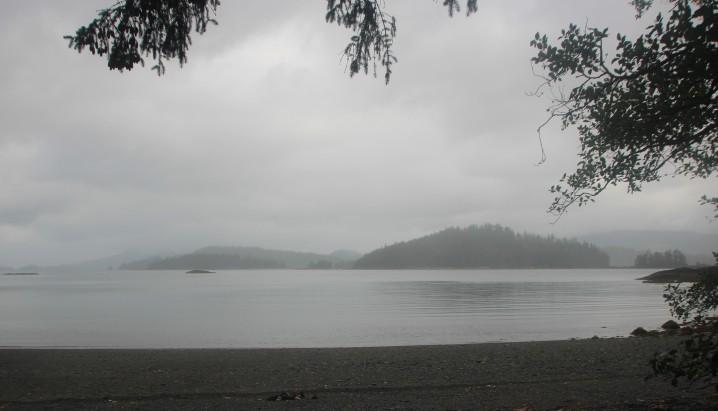 rain beach day